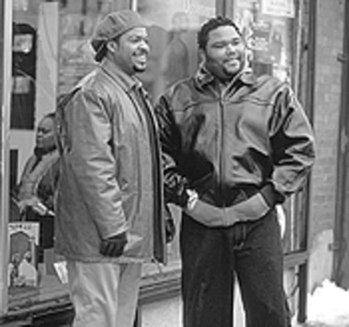 Two cutups: Ice Cube and his sidekick, Anthony Anderson, are sharp in Barbershop.