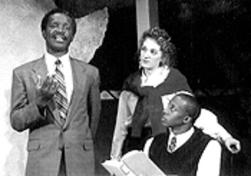Dwayne Carrington (left), Jennifer Anne Forsyth and Quatis Tarkington in My Children! My Africa!