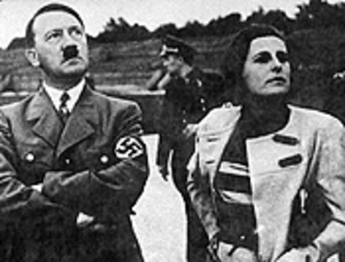 Filmmaker Leni Riefenstahl (right) glorified Adolf Hitler and the Nazis in her films.