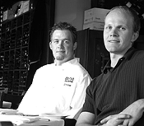 Foreign intrigue: At Solera, Goose Sorenson (left) and  Brian Klinginsmith bring culinary adventure to East  Colfax Avenue.