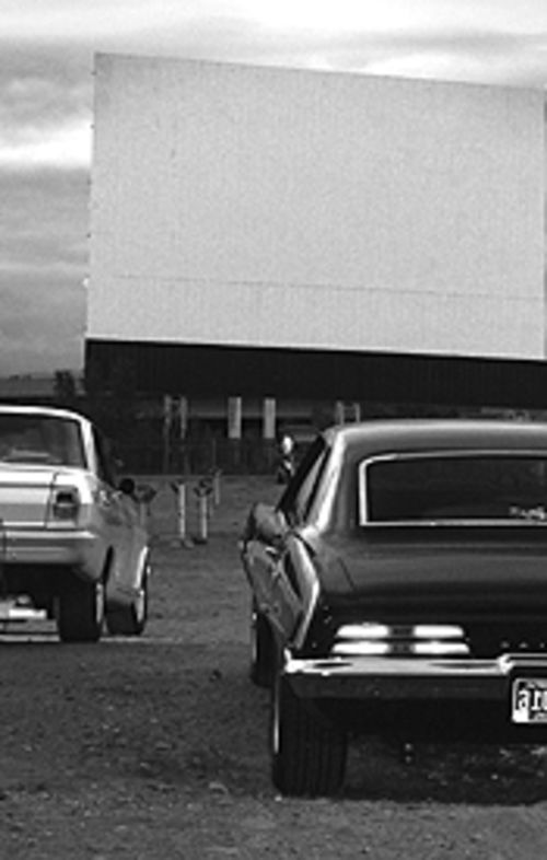 Cover photo of the Cinderella Twin Drive-In Theater by  Anthony Camera, June 2003.