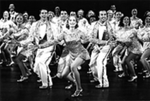 The finale of 42nd Street, featuring Catherine  Wreford (center) and the ensemble.
