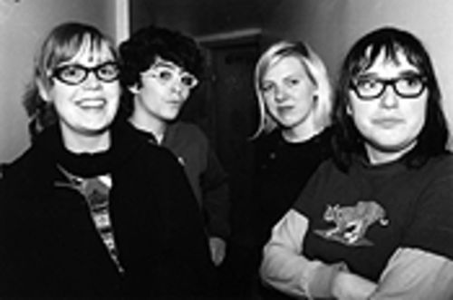 Erratic movement: Bianca Sparta (from left), Sara  Jaffe, Ellie Erickson and Jenny Hoyston are Erase  Errata.