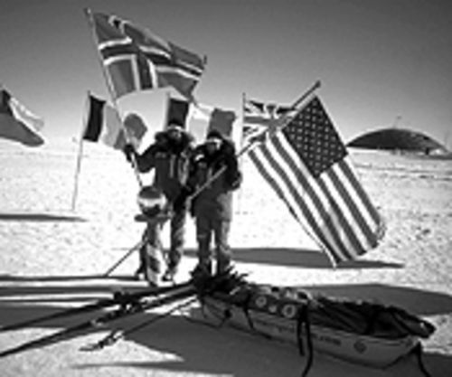 The first women to cross Antarctica tell their tale.