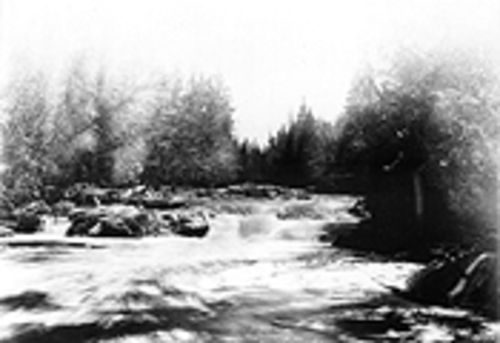 """River and Rapids,"" by F. J. Haynes, albumen print."