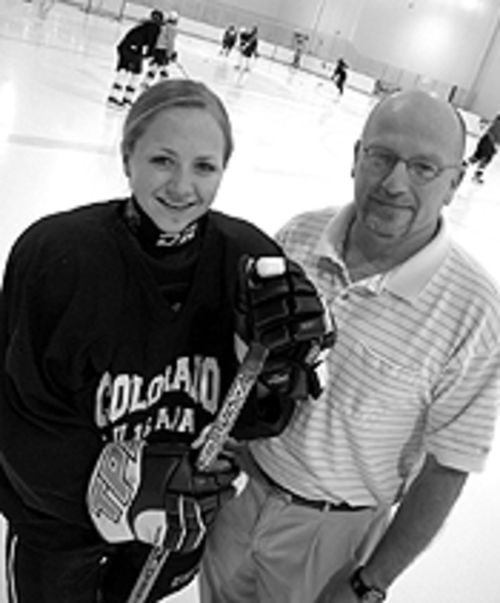 Team spirit: Colorado Select founder Dan Minnick and  his daughter, Evan.