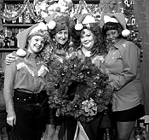 The cast of The Honky Tonk Angels Holiday  Spectacular.