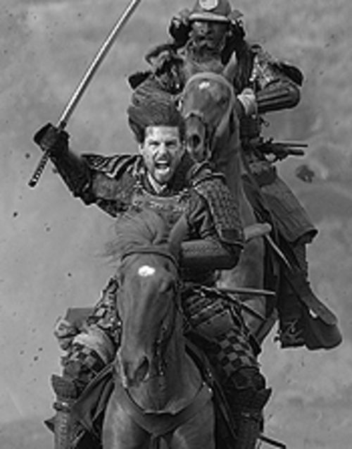 Banzai! Tom Cruise looks sharp in The Last  Samurai.