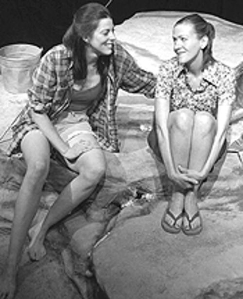 Denise Perry-Olsen (left) and Trina O'Neill in Last  Summer at Bluefish Cove.