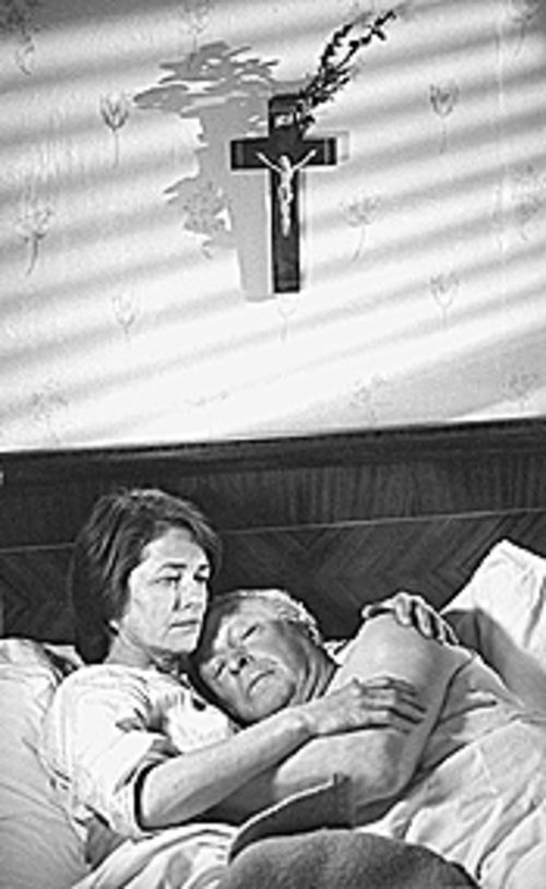 Nazi good: Charlotte Rampling and Michael Caine  seek comfort in The Statement.