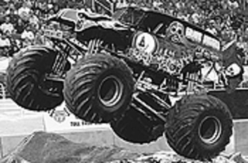 Monster trucks are the draw at the Monster Jam.