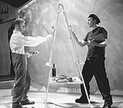Brett Aune (left) and Chris Reid in Inventing van  Gogh.