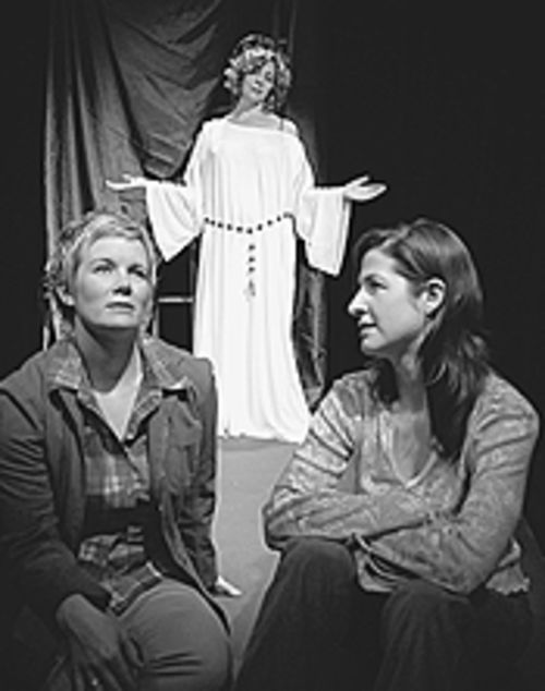 Carolyn Valentine (from left), Gina Wencel and Emily  Paton Davies in Saints and Hysterics.