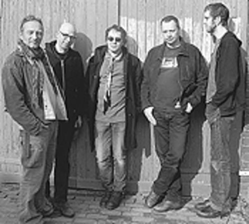 "Dot to dot: Phil ""The Silverman"" Knight (from left),  Niels Van Hornblower, Edward Ka-Spel, Raymond  Steeg and Erik Drost are the Legendary Pink Dots."