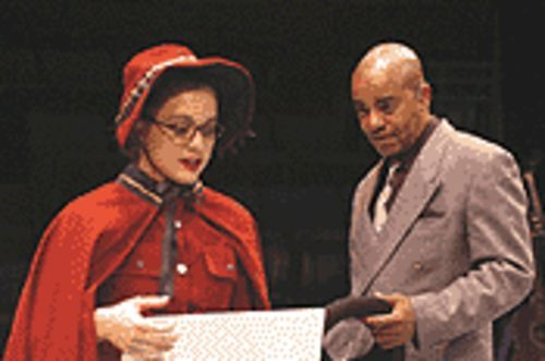 Lyndsay Giraldi and Leonard Barrett in Guys and  Dolls.