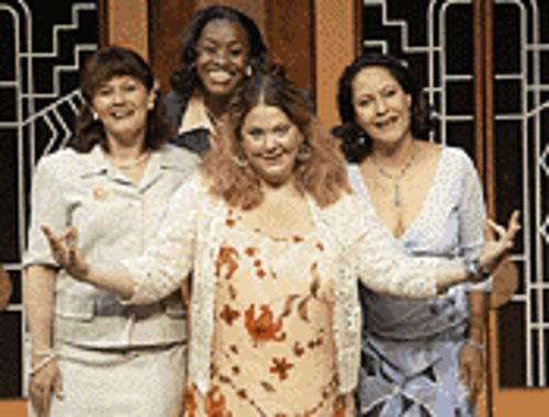 Julie Cadwell (from left), Sheryl Renee, Beth Flynn and  Mercedes Perez in Menopause the Musical.