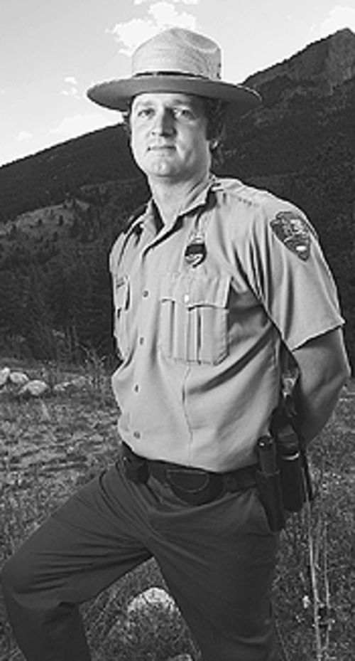 Lone ranger: Gregg Burgess patrols Rocky Mountain's  front country.