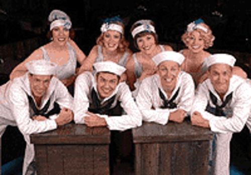 The cast of Anything Goes, now at Country  Dinner  Playhouse.