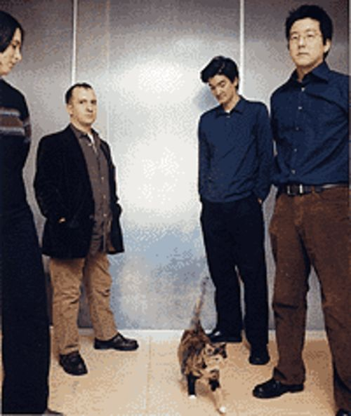 Rules of attraction: Claudia Gonson (from left),  Stephin Merritt, Sam Davol and John Woo are the  Magnetic Fields.
