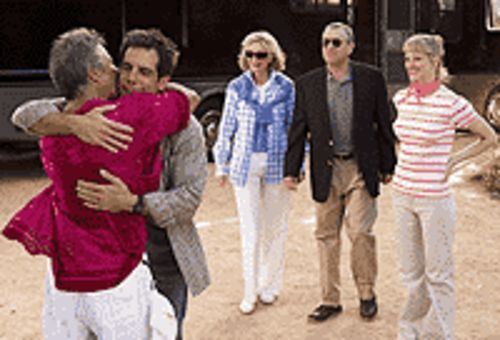 Focus on the Fockers: Dustin  Hoffman, Ben Stiller,  Blythe Danner, Robert De Niro and Teri Polo embrace  change in Meet the Fockers.