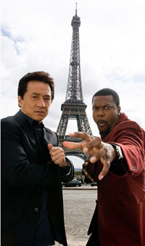Jackie Chan and Chris Rock are an American � and Chinese � in Paris.