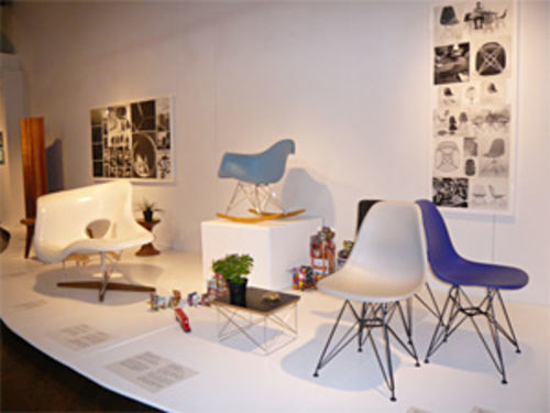 Installation view of Eames 100 at the Emmanuel Gallery.