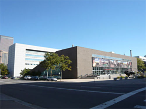 A view of the doomed Colorado Judicial Heritage Center.