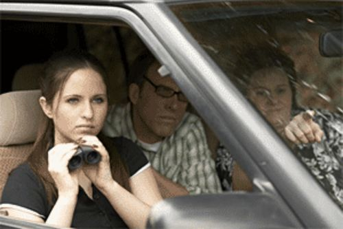 It's a stakeout! Lindsey Howell, Kirby Dick and Becky  Altringer are on the MPAA's case.