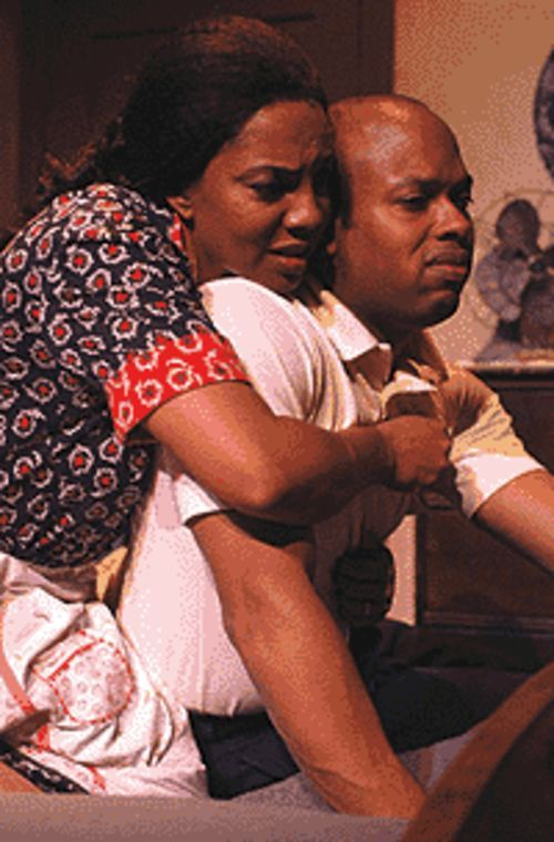 Adrienne Martin-Fullwood and Cajardo Rameer  Lindsey in A Raisin in the Sun.