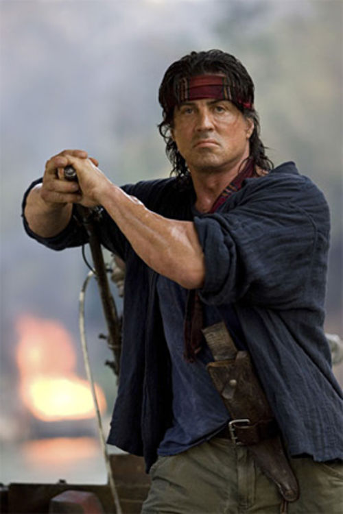 Sylvester Stallone returns as John Rambo.