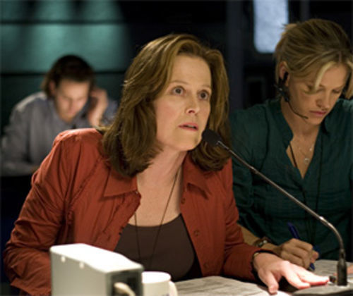 Sigourney Weaver attempts to uncover the truth in Vantage Point.