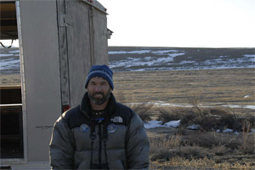 Preservationist Pat Magee at the Waunita Watchable Wildlife Site near Gunnison.