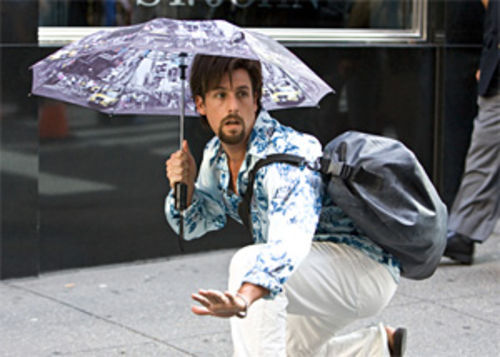 Adam Sandler triumphs over terrorism and split ends as Zohan.