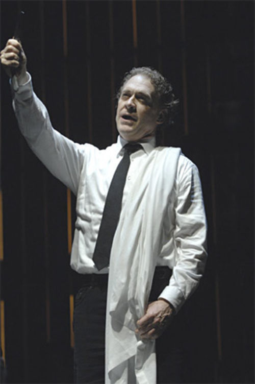 Butcher/barber David Hess looks sharp in Sweeney Todd.
