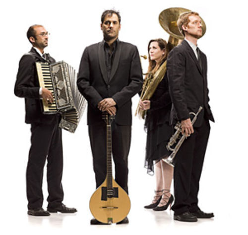 Beauty personified: Tom Hagerman (from left), Nick Urata, Jeanie Schroder and Shawn King are DeVotchKa.