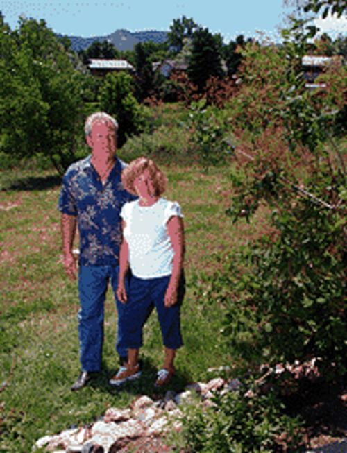 Road to nowhere: Tim Ramsey and his wife, Deborah  Bettin, want to save a green belt.