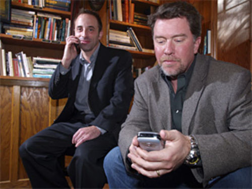 Metzger Associates' Eric Elkins and Doyle Albee phone it in.