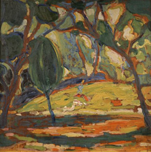 """Landscape,"" by John Edward Thompson, oil on canvas."