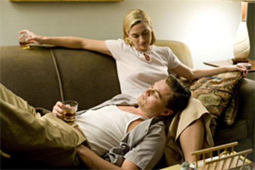 Leonardo DiCaprio and Kate Winslet star in Revolutionary Road.