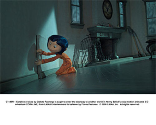 Coraline, voiced by Dakota Fanning, is eager to enter another world.
