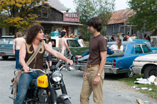 Jonathan Groff (left) and Demetri Martin in Taking Woodstock.