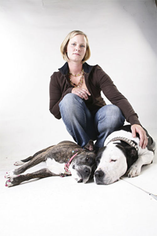 "Heidi Tufto moved out of Denver after one of her pit bulls was impounded. See more photos from inside ""Pit Bull Row"" on the Latest Word."