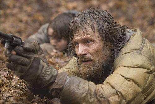 Viggo Mortensen and Kodi Smit-McPhee star in The Road.