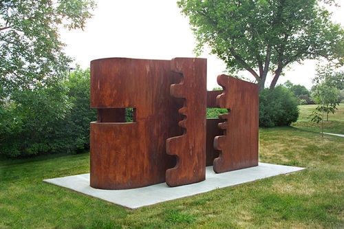 """Out and Inside,"" by Maria Cristina Carlini, Corten steel."