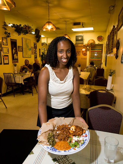 Challtu Kelly with a Queen of Sheba feast. See a full slideshow from Queen of Sheba.