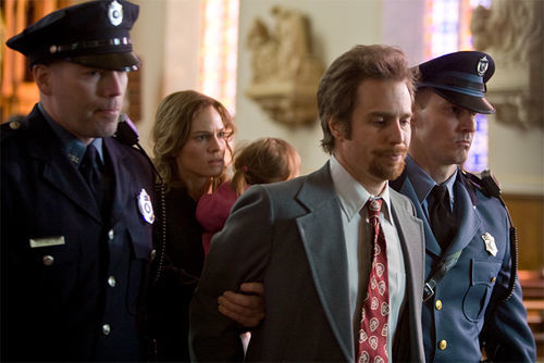 Hilary Swank and Sam Rockwell in Conviction.