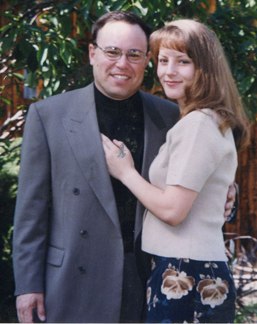 Peter Spitz and Teresa Dickey posed on the occasion of their first date, in 1998.
