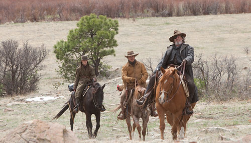 Hailee Steinfeld, Matt Damon and Jeff Bridges in True Grit.