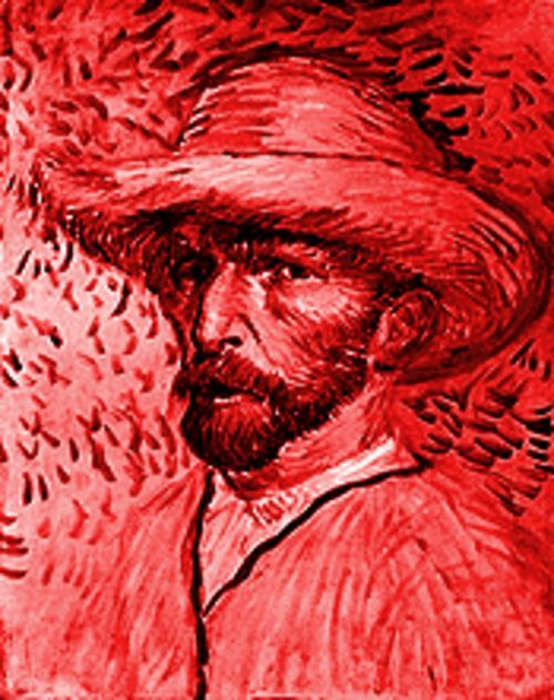"Vincent Van Gogh, ""Self-Portrait With a Straw Hat,"" painting."