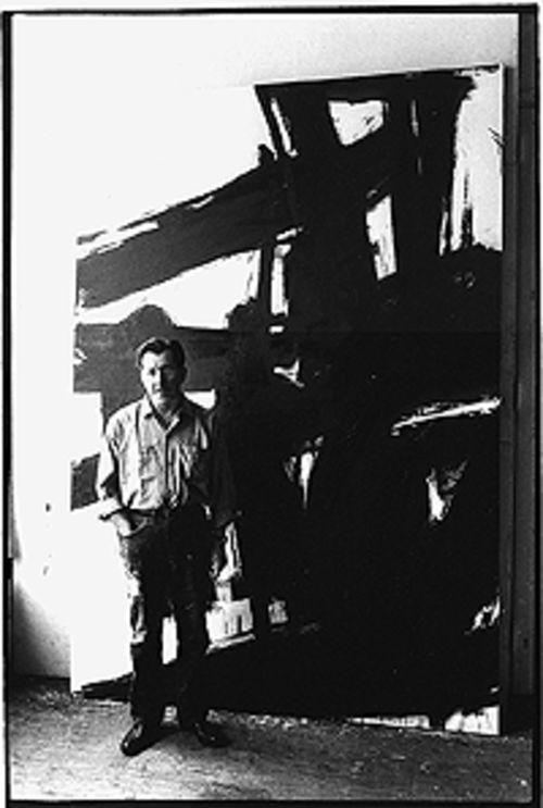 Franz Kline portrait by John Cohen, black-and-white  photo.